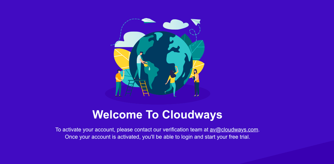 Cloudways account created