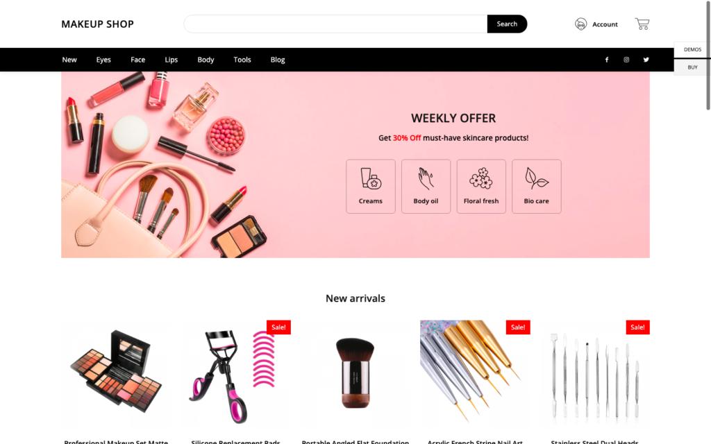 Makeup shop
