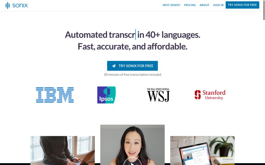 Sonix transcription software