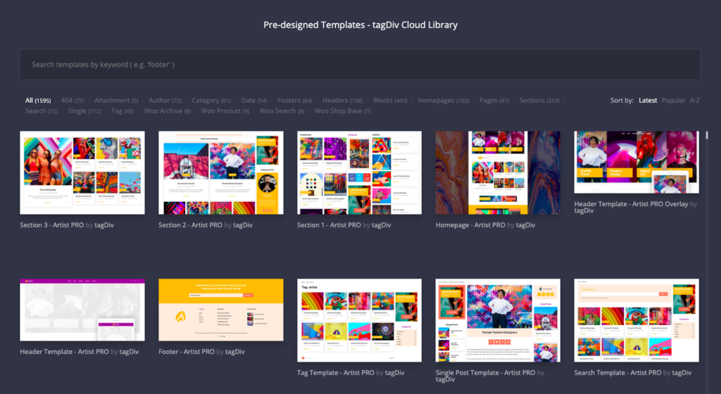 tagDiv cloud library